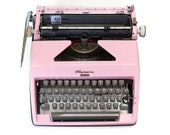 Pink Typewriter, Portable...