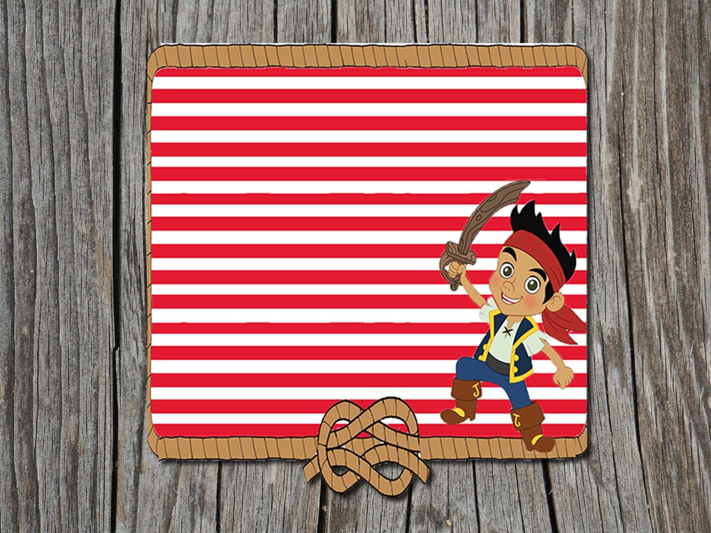 Free Jake And The Neverland Pirates Birthday Invitations Gallery ...