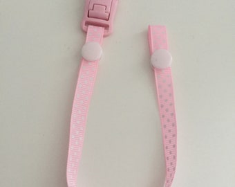 Pink Dotty Dummy Clip