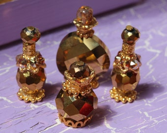 4 miniature perfume bottles for Fashion Royalty, Poppy Parker, Barbie 1/6 scale