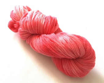 Hand dyed  lace weight yarn 83g 100 % wool