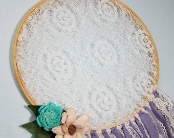 Dreamcatcher Purple Dreamcatcher Baby dreamcatcher girl dreamcatcher wall sola dreamcatcher sola wood flower sola