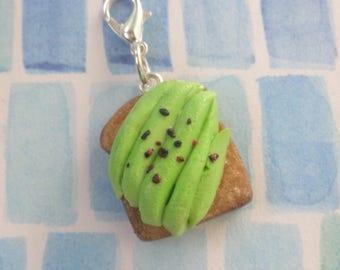 Handmade Polymer Clay Avocado Toast Charm