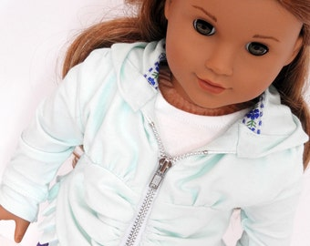 18 Inch Doll Hoodie, AG Doll Hoodie Handmade for American Girl Doll