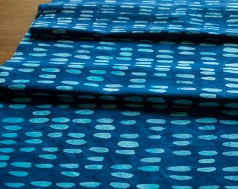 Forma:Mark à la main à motifs et tissu de coton en bleu pâle et bleu Indigo teint