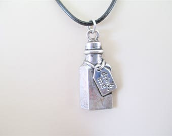 Drink Me Necklace, Alice In Wonderland Drink Me Necklace, Through The Looking Glass Necklace