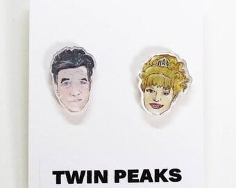 Twin Peaks Acrylic Earrings