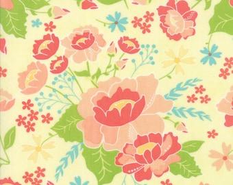 Lulu Lane Flower Garden fabric in Canary Yellow by Corey Yoder for Moda Fabrics #29020-12