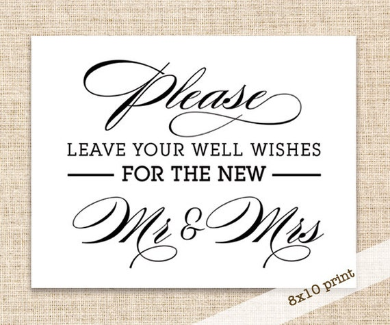 Wedding Guest Signing Ideas: Guest Book Wedding Sign Printable DIY 8x10 Sign Wedding