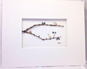 Bird wall art, wall decor, 8x10 Framed, bird art, Bird wall hanging, bird lovers, nuts about birds, bird wall decor, office art, office gift