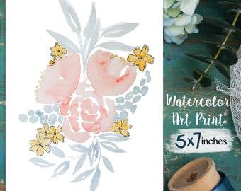 SPRING Art Print, Watercolor Art Print, Floral Watercolor, Spring Art Print