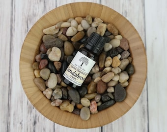 Organic Sandalwood Essential Oil • Indian • Therapeutic Grade • .3 oz /  10ml With Dropper Caps