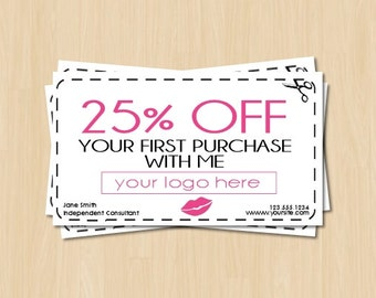 Direct Sales Coupon Etsy - Pure romance gift certificate template
