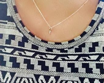 Tiny Silver Spike Necklace