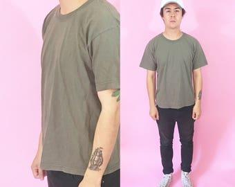 Green vintage tshirt size small 1990s 1980s 90s 80s tshirt tee