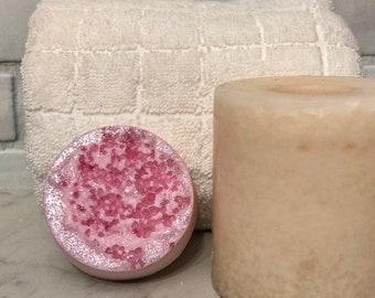 Rose Quartz Geode Bath Bomb, Druzy Bath Bomb, Bath Fizzy, Vegan Bath Bomb, Handmade Bath Bomb, Gemstone Bath Bomb, 2oz Bath Bomb