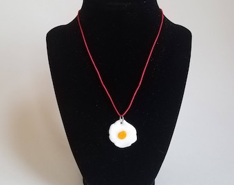 Fried Egg Necklace by TMI Glass