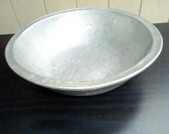 Vintage Round Pewter Bowl