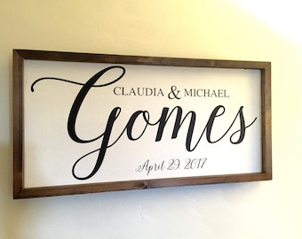 Wedding Date Sign Engagment Gift