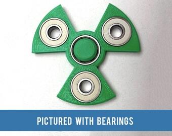 Radioactive Symbol Fidget Spinner - 3D printed toy