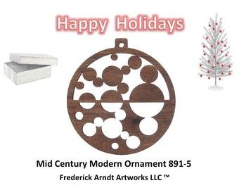 891-5 Mid Century Modern Christmas Ornament