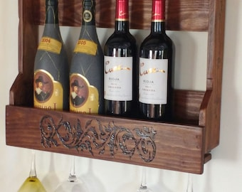 Recycled Pallet Wood bottle rack