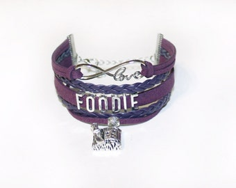 Foodie Bracelet | Foodie Gift | Foodie Jewelry | Nutrition Coach Gift | Food Blogger Gift | Restaurateur Gift | Sous Chef Gift | Food Lover