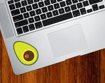 "CLR:TP - Avocado Half - Vinyl Decal for Trackpads, Tablets, iPads  © YYDC (2""w x 2.75""h)"