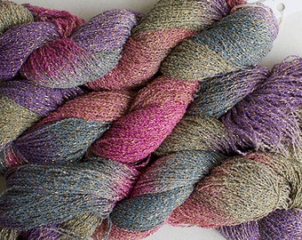 Sparkle,  fine cotton/metallic yarn, 300 yds - Desert