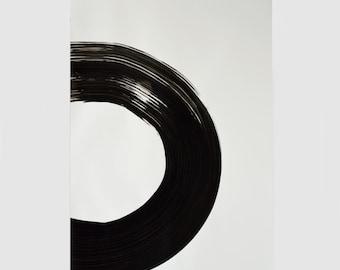 Large circle abstract art-Original Abstract Art, black and white circle art, modern art, minimalist painting, geometric, minimal art, art