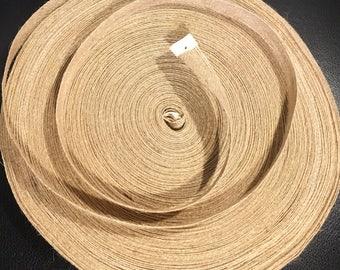 Natural Jute Ribbon Large 100 Yard Roll, 5/8 inch width - burlap colored ribbon, twine like ribbon, rustic favor, twine decor, burlap decor