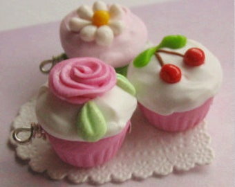 Three Cupcake Charms