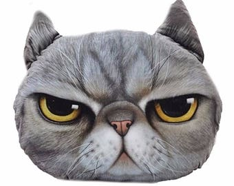 Angry Cat Pillow 15 X 15 Free Shipping