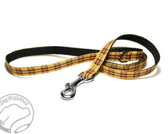 MacLeod Clan Tartan Leash // Matching Tartan Dog Leash in two widths // custom lengths // Plaid Leashes // Tartan Lead // Handmade Leash