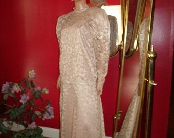 Vintage Lace Wedding Vintage Dress Flapper Evening Lace does 20-30s Size L