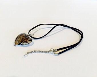 Glass Heart Murano Pendant