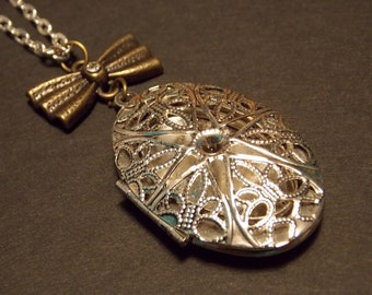 Silver Victorian Drop Locket