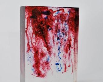 Dye Dispersion Encapsulation Sculpture