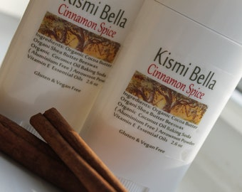 Deodorant, All Natural Deodorant, Travel Size, Scented Deodorant, Cinnamon Spice Gifts for Her, Beauty and Bath, Home and Living