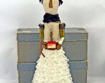 Assemblage MIxed Media Art Doll Pat