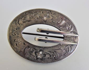 Antique Victorian Buckle Brooch | Sterling Buckle Brooch | Antique Victorian Brooch | Large Brooch | Antique Pin | Gift Jewelry Jewellery