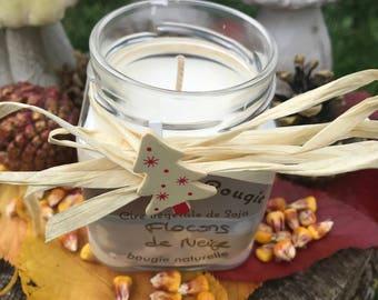 natural perfume snowflakes soy wax candle