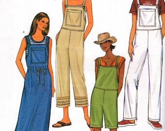 Butterick 3853      Misses/Petite Jumper and Overalls   Size Xsm,Sm,Med or Size Lrg,Xlrg    Uncut