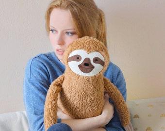Sloth,  plushie pillow, cute, kawaii, jungle, Faultier, rustic, woodland animals, children room decor, Faulpelz, home, decoration, softie