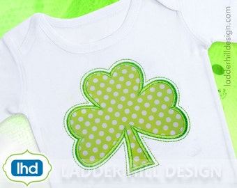 Shamrock Applique Design -- St. Patrick's Day Shamrock Machine Embroidery Applique -- St. Patrick's Day Applique Design No. SPT002A