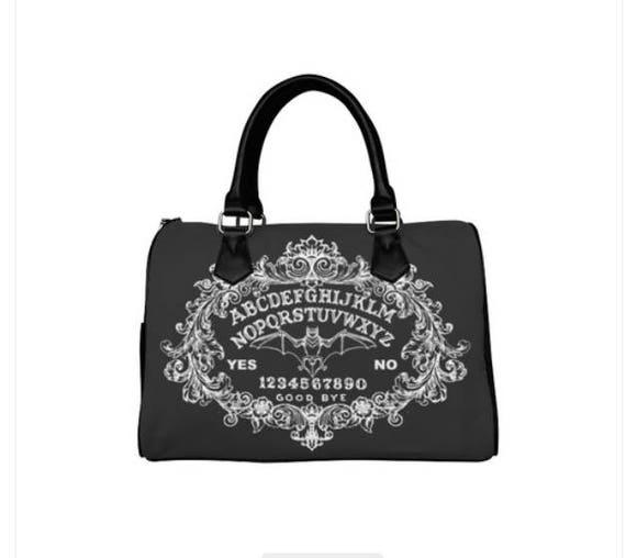 Bat Ouija Black Barrel Style Hand Bag
