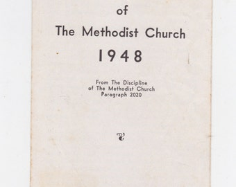 1948 the social creed of the Methodist church brochure