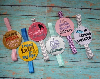 Gilmore Inspired Bookmarks! Planner Keeper! In Omnia Paratus! Oy With The Poodles Already! I Drink Coffee Like A Gilmore! Quality Embroidery
