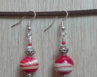 Vanilla Strawberry earrings