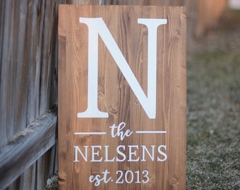Wood Last Name Sign